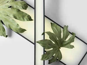 LAXO 60x20 ceiling lamp - graphite small 1