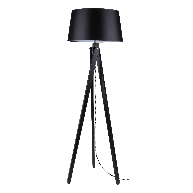 Floor lamp Rune black / black- white / black E27 60W