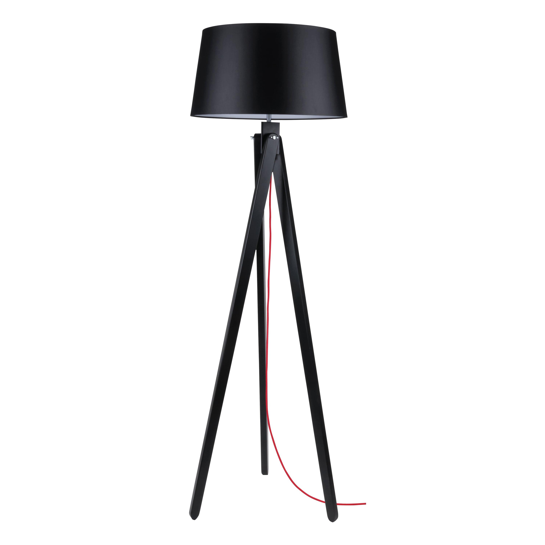 Floor lamp Rune black / red / black E27 60W