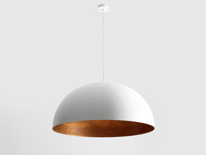 Hanging lamp LORD 70 - copper-white small 3