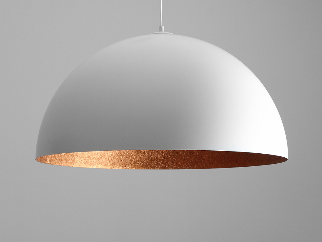 Hanging lamp LORD 70 - copper-white