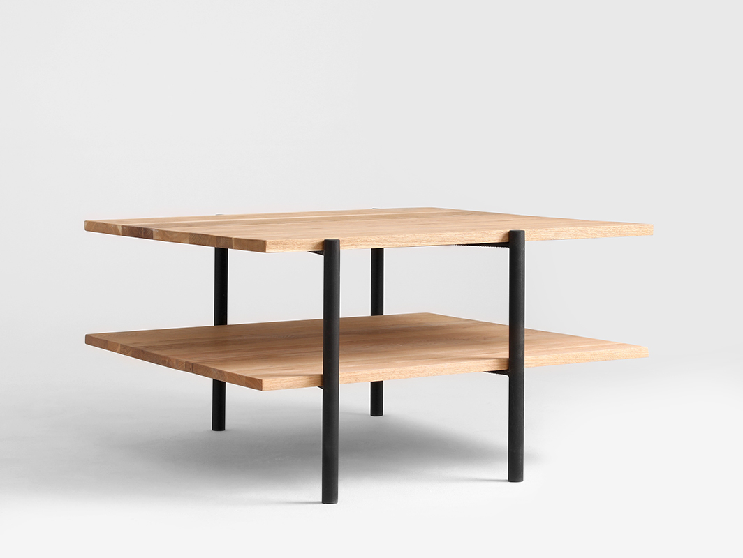 RAVE SOLID WOOD 100x100 coffee table