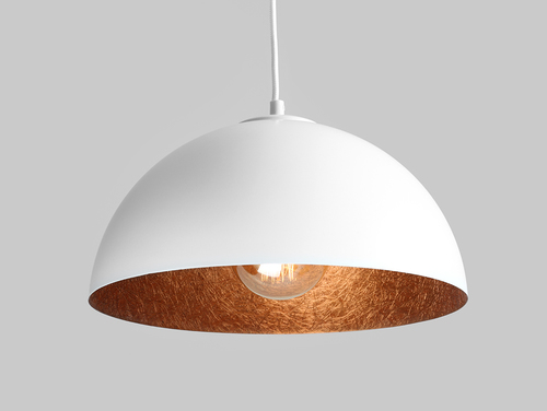 Hanging lamp LORD 35 - copper-white