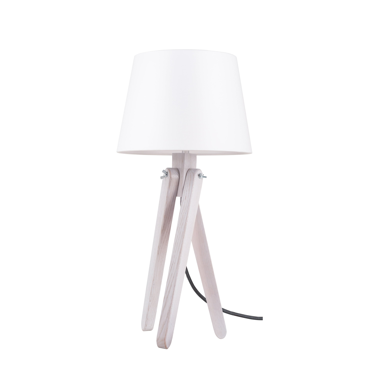 Table lamp Rune dąb bielony / anthracite / white E27 60W