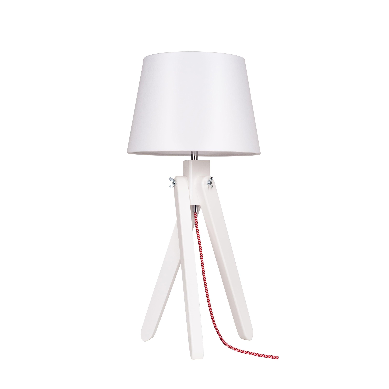 Table lamp Rune white / red-white / white E27 60W