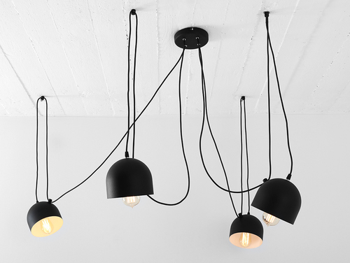 Hanging lamp POPO 4 - black