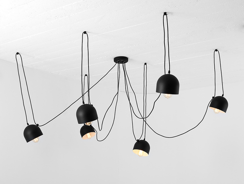 POPO 6 hanging lamp - black