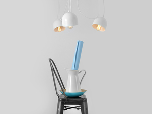 Hanging lamp POPO 4 - white small 1