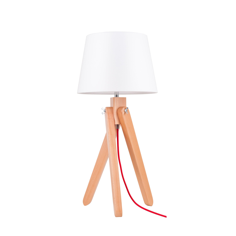 Table lamp Rune buk / red / white E27 60W