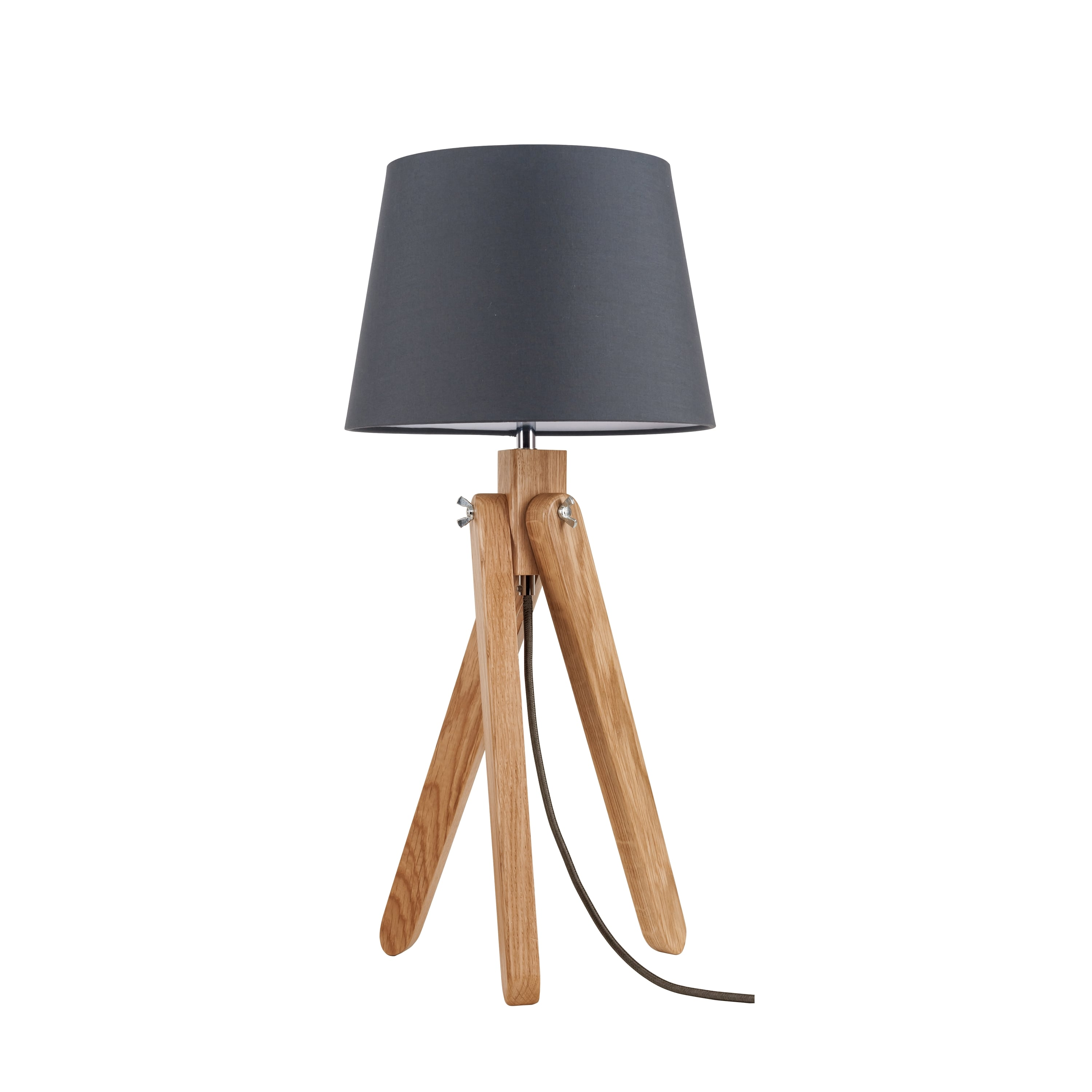 Table lamp Rune dąb / anthracite / anthracite E27 60W