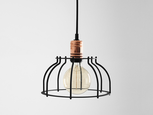 WORKER FAT hanging lamp - black small 3