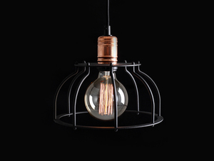 WORKER FAT hanging lamp - black small 4