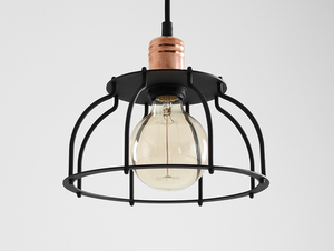 WORKER FAT hanging lamp - black small 0