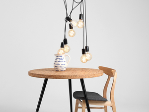 Hanging lamp SPINNE 7 - black small 1