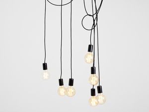 Hanging lamp SPINNE 7 - black small 3