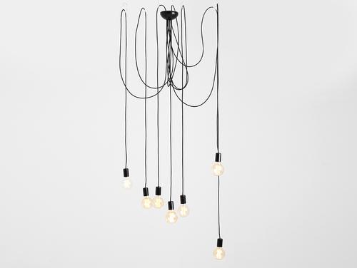 Hanging lamp SPINNE 7 - black