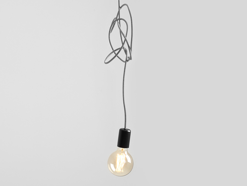 Hanging lamp SPINNE 1 - gray