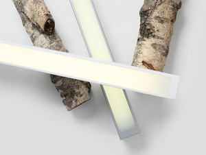 LINE LED M ceiling lamp - white small 1
