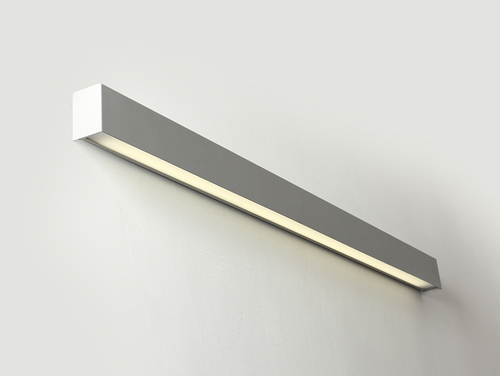 LINE WALL LED L wall lamp - silver