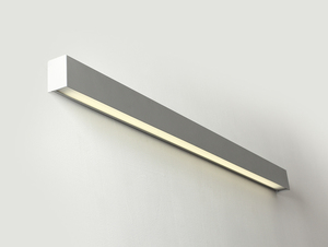 LINE WALL LED L wall lamp - silver small 0