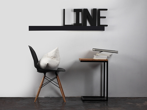 LINE WALL LED M wall lamp - graphite small 1