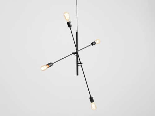 TWIGO 4 hanging lamp - black