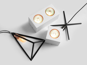 Ceiling lamp FLASS 1 - white small 2