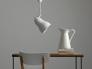 Hanging lamp GLOBO - white small 1