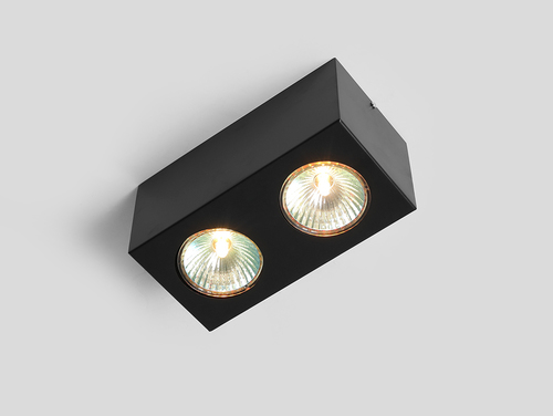 Ceiling lighting fixture FLASS 2 - black