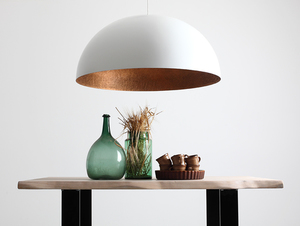 Hanging lamp LORD 90 - copper-white small 1