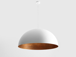 Hanging lamp LORD 90 - copper-white small 3