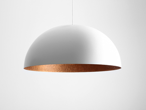 Hanging lamp LORD 90 - copper-white small 0