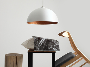 Hanging lamp LORD 50 - copper-white small 1