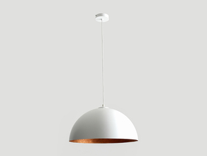 Hanging lamp LORD 50 - copper-white small 3