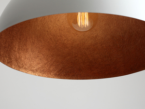Hanging lamp LORD 50 - copper-white small 4