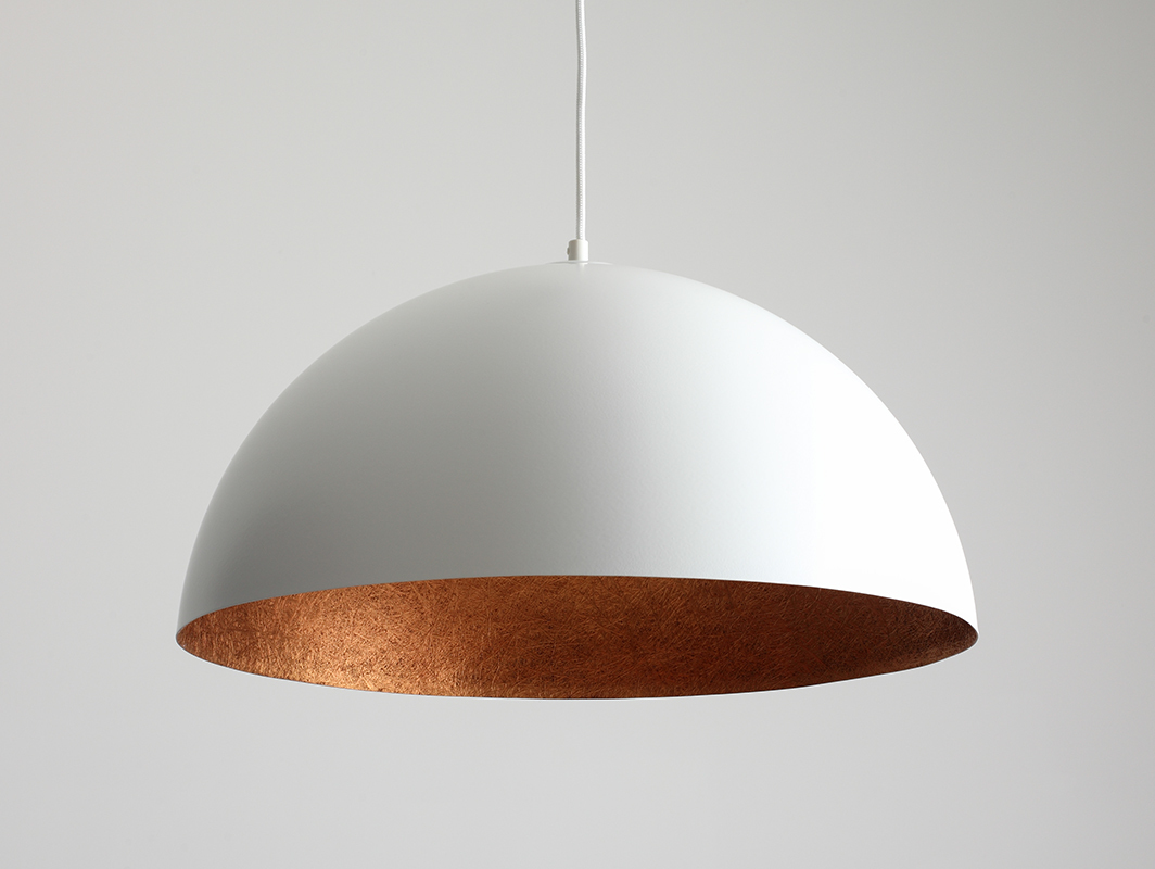 Hanging lamp LORD 50 - copper-white