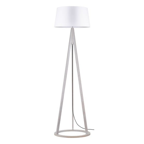 Lampa podlogowa konan dab bielony antracyt bialy e27 60w l