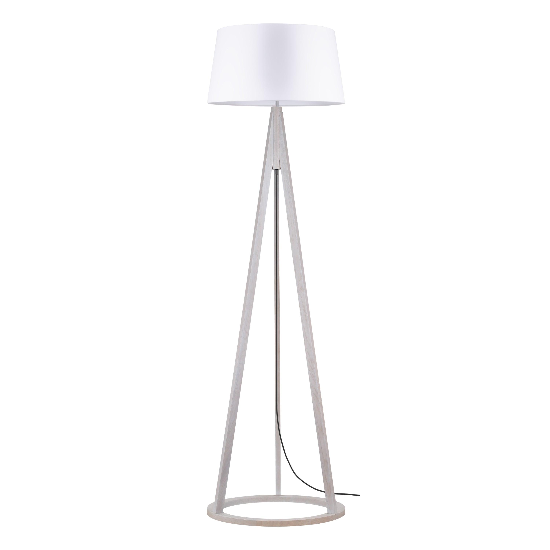 Konan floor lamp dąb bielony / anthracite / white E27 60W