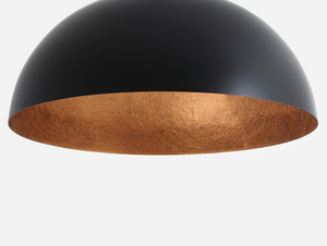 Hanging lamp LORD 90 - copper-black small 3