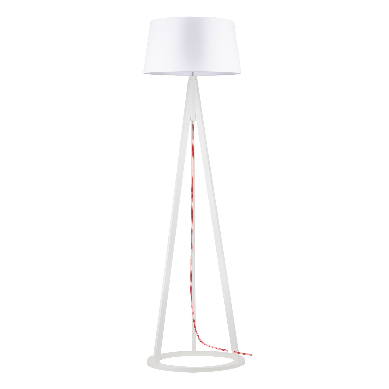 Konan floor lamp white / red- white / white E27 60W