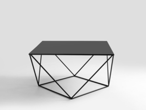 DARYL METAL CustomForm black coffee table small 3