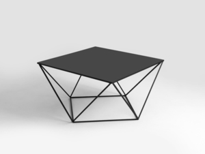 DARYL METAL CustomForm black coffee table small 0