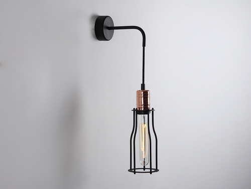 WORKER TALL WALL wall lamp - black