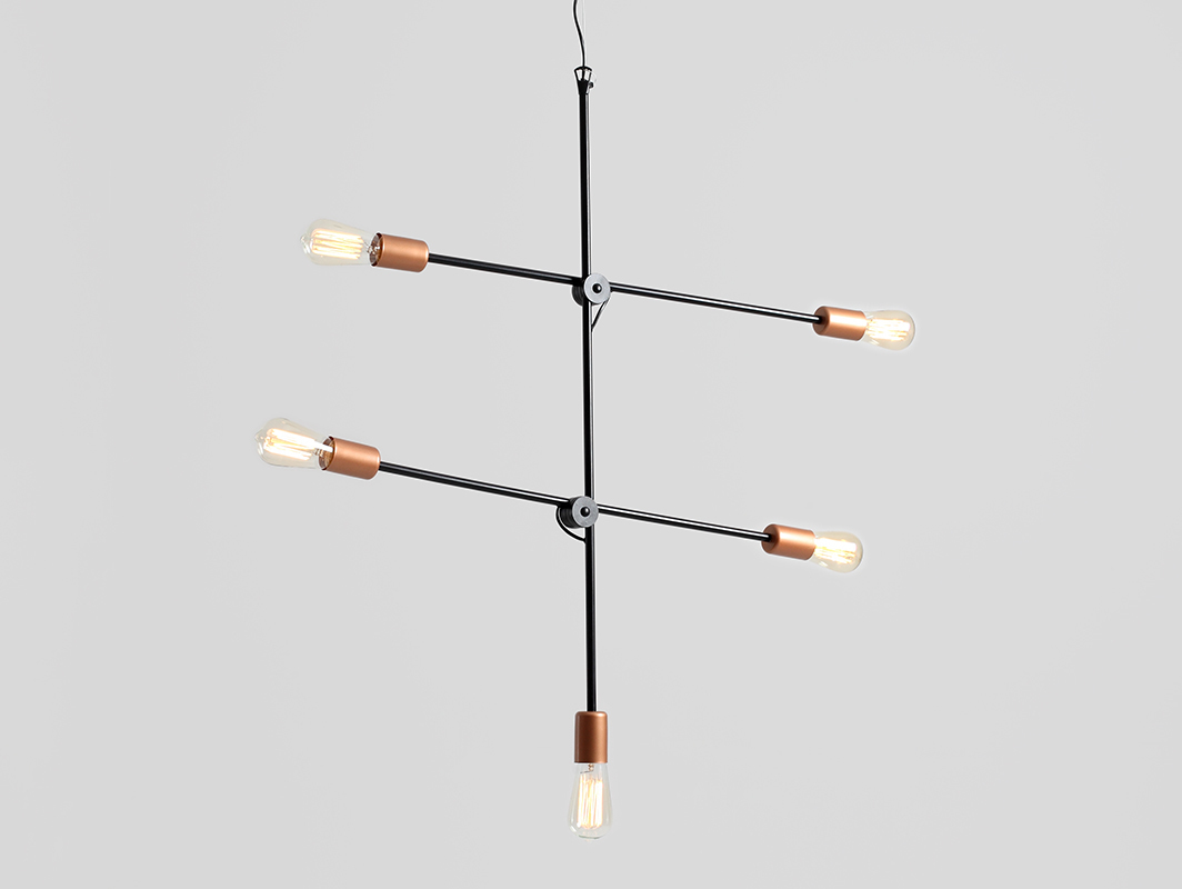 Hanging lamp EPO 5 - black