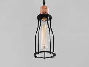 WORKER TALL pendant lamp - black small 1