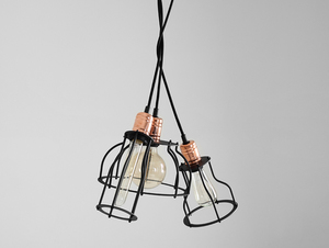 WORKER TALL pendant lamp - black small 4