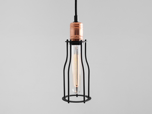 WORKER TALL pendant lamp - black small 0