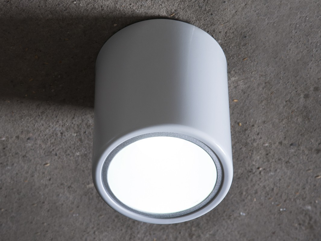 DOWNSPOT SILVER S 15 ceiling lamp - silver