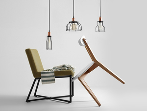 WORKER WIDE hanging lamp - black small 1