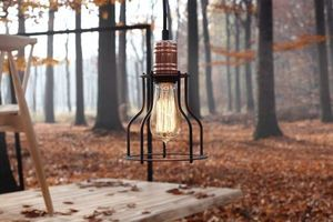 WORKER WIDE hanging lamp - black small 2